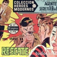 Tebeos: HÉROES MODERNOS-SERIE C- Nº 27 -AGENTE X-9 DEL FBI- RESCATE-1964-BUENO-MUY DIFÍCIL-LEAN-2513. Lote 187194677