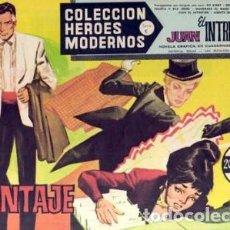 Tebeos: HÉROES MODERNOS-SERIE C- Nº 29 -JUAN EL INTRÉPIDO- CHANTAJE-1964-BUENO-MUY DIFÍCIL-LEAN-2514. Lote 187195218