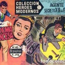Tebeos: HÉROES MODERNOS-SERIE C- Nº 40 -AGENTE X-9 FBI-LA DIADEMA DE LA PRINCESA-1965-BUENO-MUY DIFÍCIL-2516. Lote 187197127