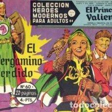 Tebeos: HÉROES MODERNOS-SERIE C- Nº 60 -EL PRÍNCIPE VALIENTE-EL PERGAMINO PERDIDO-1965-BUENO-DIFÍCIL-2519. Lote 187208101