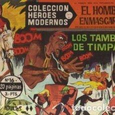 Tebeos: HÉROES MODERNOS-SERIE A-Nº 16 -EL HOMBRE ENMASCARADO-LOS TAMBORES DE TIMPANI-1964-BUENO-DIFÍCIL-2520. Lote 187209092