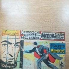 Tebeos: COLECCIÓN HEROES MODERNOS PRESENTA #15 MERLIN EL MAGO MODERNO. Lote 192303578