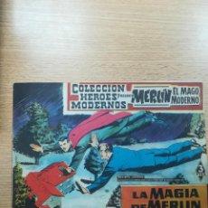 Tebeos: COLECCIÓN HEROES MODERNOS PRESENTA #11 MERLIN EL MAGO MODERNO. Lote 192303598
