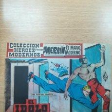 Tebeos: COLECCIÓN HEROES MODERNOS PRESENTA #10 MERLIN EL MAGO MODERNO. Lote 192303637