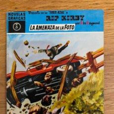 Tebeos: NOVELAS GRÁFICAS SERIE AZUL RIP KIRBY ALEX RAYMOND LA AMENAZA DE LA FOTO NÚMERO 3. Lote 193860095