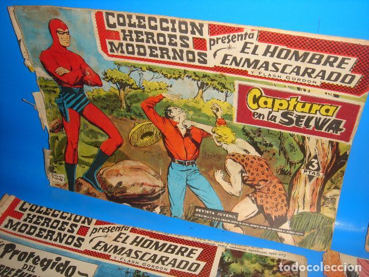 Tebeos: COLECCION HEROES MODERNOS El hombre enmascarado y Flash Gordon-20 numeros - Foto 2 - 195060358