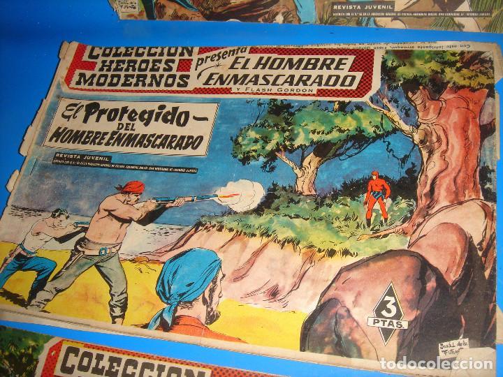 Tebeos: COLECCION HEROES MODERNOS El hombre enmascarado y Flash Gordon-20 numeros - Foto 3 - 195060358
