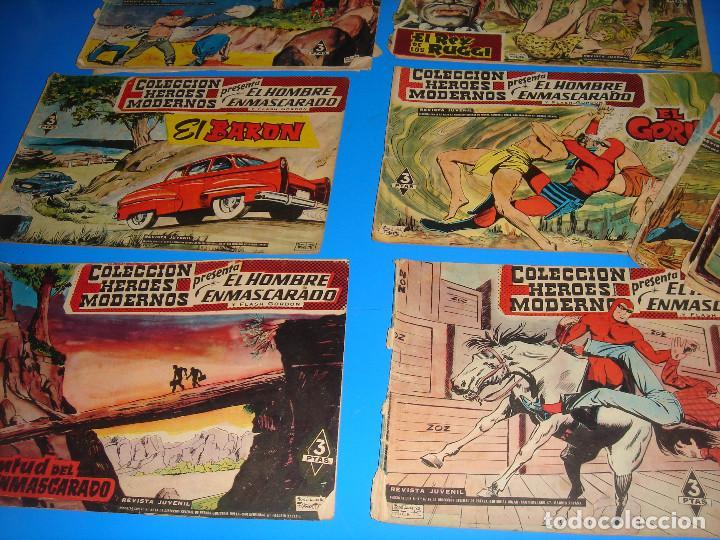 Tebeos: COLECCION HEROES MODERNOS El hombre enmascarado y Flash Gordon-20 numeros - Foto 4 - 195060358