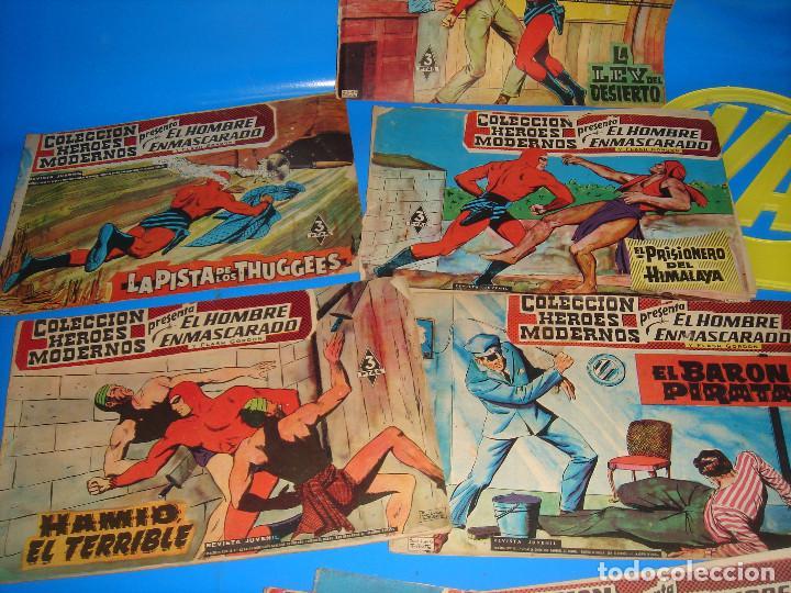 Tebeos: COLECCION HEROES MODERNOS El hombre enmascarado y Flash Gordon-20 numeros - Foto 7 - 195060358