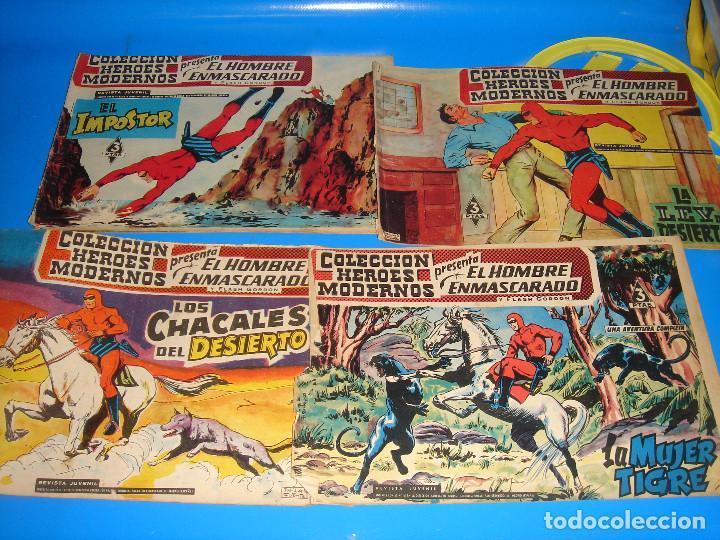 Tebeos: COLECCION HEROES MODERNOS El hombre enmascarado y Flash Gordon-20 numeros - Foto 8 - 195060358
