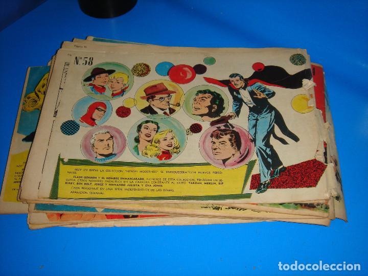 Tebeos: COLECCION HEROES MODERNOS El hombre enmascarado y Flash Gordon-20 numeros - Foto 10 - 195060358
