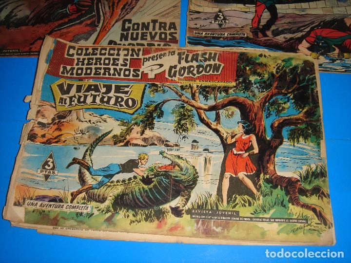 Tebeos: Lote de comics COLECCION HEROES MODERNOS Flash Gordon 7 numeros-dolar - Foto 2 - 195060416