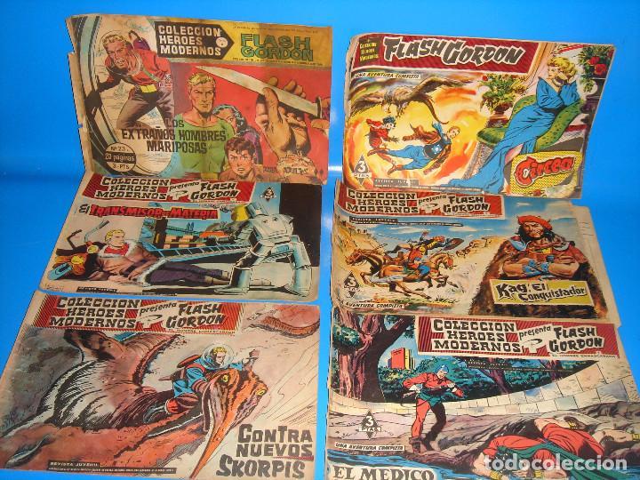 Tebeos: Lote de comics COLECCION HEROES MODERNOS Flash Gordon 7 numeros-dolar - Foto 3 - 195060416