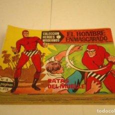 Tebeos: HOMBRE ENMASCARADO - COLECCION HEROES MODERNOS SERIE A - DOLAR - 49 NUMEROS - BUEN ESTADO - GORBAUD. Lote 204405215