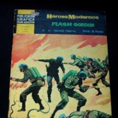 Tebeos: HEROES MODERNOS , II EPOCA, FLASH GORDON Nº 21: PELIGRO VEGETAL. Lote 204528285