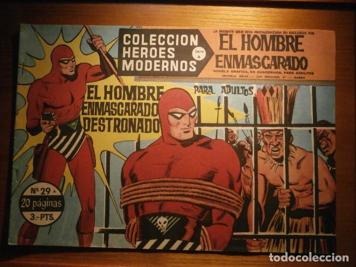 COMIC, EL HOMBRE ENMASCARADO, COLECCION HEROES MODERNOS - DESTRONADO - Nº 29, ORIGINAL (Tebeos y Comics - Dólar)