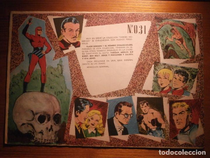 Tebeos: COMIC, EL HOMBRE ENMASCARADO, COLECCION HEROES MODERNOS - PELIGRO TRAS PELIGRO - Nº 31 ORIGINAL - Foto 2 - 204797176