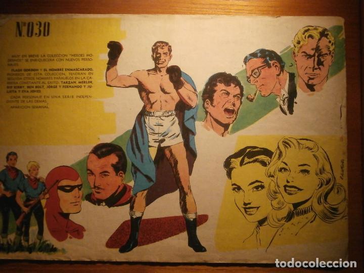 Tebeos: COMIC, EL HOMBRE ENMASCARADO, COLECCION HEROES MODERNOS - HAMID EL TERRIBLE - Nº 30 ORIGINAL - Foto 2 - 204799408