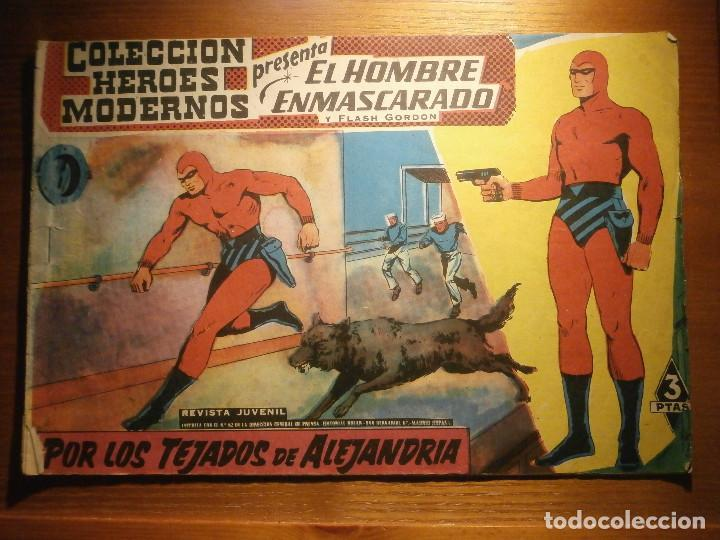 COMIC, EL HOMBRE ENMASCARADO, COLECCION HEROES MODERNOS, POR LOS TEJADOS DE ALEJANDRÍA, Nº 21 (Tebeos y Comics - Dólar)