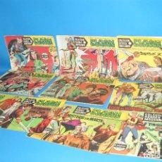 Tebeos: LOTE COMICS COLECCION HEROES MODERNOS FLASH GORDON 9 NUMEROS BUEN ESTADO-1958. Lote 206291593
