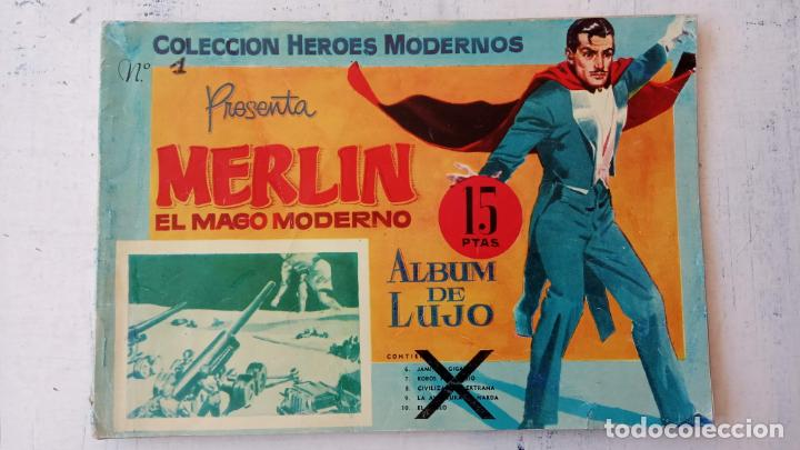 MERLIN EL MAGO MODERNO ALBUM DE LUJO (Tebeos y Comics - Dólar)