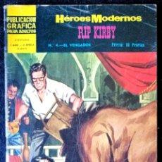 Tebeos: HÉROES MODERNOS - RIP KIRBY Nº 4 - DOLAR 1966 - II ÉPOCA. Lote 210047123