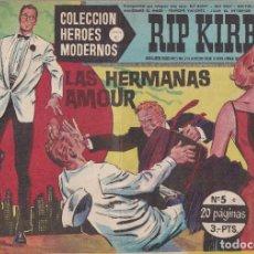 Tebeos: COLECCION HEROES MODERNOS: SERIE C. RIP KIRBY Nº 5, LAS HERMANAS AMOUR. Lote 211529047
