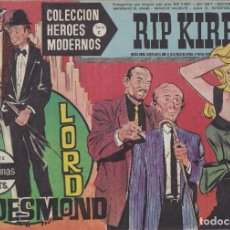 Tebeos: COLECCION HEROES MODERNOS: SERIE C. RIP KIRBY Nº 10, LORD DESMOND. Lote 211529536
