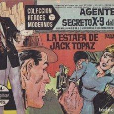 Tebeos: COLECCION HEROES MODERNOS: SERIE C. AGENTE SECRETO X-9 DEL F.B.I. Nº 14, LA ESTAFA DE JACK TOPAZ. Lote 211530084