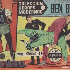 Tebeos: COLECCION HEROES MODERNOS: SERIE C. BEN BOLT. Nº 20, EL GENERAL.. Lote 211553071