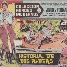 Tebeos: COLECCION HEROES MODERNOS: SERIE C. JORGE Y FERNANDO. Nº 26, HISTORIA DE DOS ALDEAS.. Lote 211553559