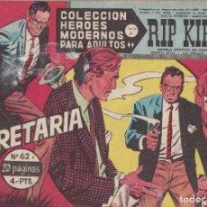 Tebeos: COLECCION HEROES MODERNOS: SERIE C. RIP KIRBY. Nº 62, LA SECRETARIA.. Lote 211557195