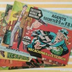 Tebeos: LOTE AGENTE SECRETO X-9 FBI Nº 4, 14, 27, 40 Y 57 HEROES MODERNOS ED. DOLAR. Lote 211816327