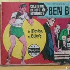 Tebeos: LOTE BEN BOLT Nº 3, 9, 19, 20, 36, 43, 48, 50, 51, 52, 53, 54, 55, 63, 64, 69 Y 73 HEROES MODERNOS. Lote 211819493
