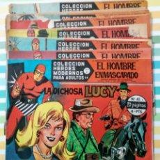 Tebeos: LOTE EL HOMBRE ENMASCARADO SERIE A HÉROES MODERNOS Nº 41, 45, 47, 50, 53, 70, 72 Y 74 DOLAR 1958. Lote 211801277