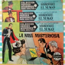 Tebeos: LOTE MANDRAKE EL MAGO Nº 44, 45 Y 49 HEROES MODERNOS ED. DOLAR. Lote 211815600