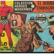 BDs: HEROES MODERNOS -SERIE A- EL HOMBRE ENMASCARADO Nº 39 DÓLAR 1964. EXCELENTE. Lote 215262713