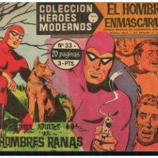 BDs: HEROES MODERNOS -SERIE A- EL HOMBRE ENMASCARADO Nº 33 DÓLAR 1964. MUY BUENO.. Lote 215263608