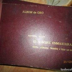 Tebeos: DIFICIL !!! TOMO TEBEOS ANTIGUO COMPLETO ORIGINAL EL HOMBRE ENMASCARADO ALBUM DE ORO EDITORIAL DOLAR. Lote 215358857