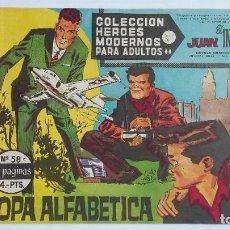 Giornalini: COLECCION HEROES MODERNOS: SERIE C. JUAN EL INTREPIDO. Nº 58 SOPA ALFABETICA. TDKC74. Lote 215935270