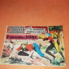Tebeos: EL HOMBRE ENMASCARADO. COLECCION HEROES MODERNOS. Nº 09. EL SECUESTRO DE DIANA. DOLAR 1958. Lote 219418295
