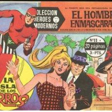 Tebeos: EL HOMBRE ENMASCARADO - LA ISLA DE LOS PERROS - COLECCIÓN HEROES MODERNOS Nº 11 SERIE A - 1958. Lote 220348295