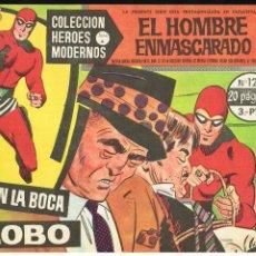 Tebeos: EL HOMBRE ENMASCARADO - EN LA BOCA DEL LOBO - COLECCIÓN HEROES MODERNOS Nº 12 SERIE A. Lote 220348408