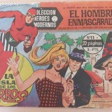 Giornalini: COLECCIÓN HÉROES MODERNOS. SERIE A Nº 11. EL HOMBRE ENMASCARADO. LA ISLA DE LOS PERROS. DOLAR. Lote 220785541