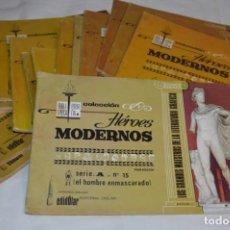 Tebeos: HÉROES MODERNOS / EL HOMBRE ENMASCARADO - SERIE A, COMPLETA / 15 CUADERNOS/ÁLBUMES - BUEN ESTADO. Lote 220843233