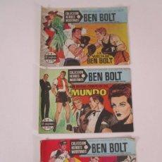 BDs: BEN BOLT - COLECCIÓN HÉROES MODERNOS - EDITORIAL DOLAR - Nº 3,8,9. Lote 230410595