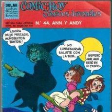 Tebeos: COMIC-BOY COMICS JUVENILES Nº 44 ANN Y ANDY - DOLAR 1964 - UNICO EN TODOCOLECCION. Lote 248458675