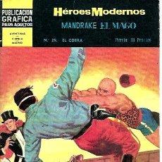 Giornalini: HÉROES MODERNOS MANDRAKE EL MAGO Nº 29. Lote 252532380
