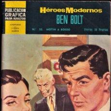 Tebeos: BEN BOLT 33 - MOTÍN A BORDO - HÉROES MODERNOS - EDITORIAL DOLAR 1960. Lote 253207915