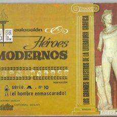 BDs: HOMBRE ENMASCARADO, EL. SERIE A Nº 10 . BIBLIOTECA ETERNA COL. HÉROES MODERNOS. REENTAPADO.. Lote 261521390